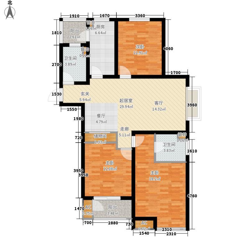 中央时区125.24㎡7号楼0面积12524m户型