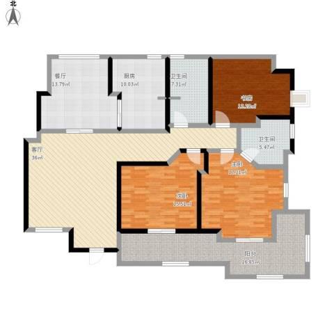 虹桥乐庭3室2厅2卫1厨197.00㎡户型图