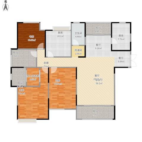 绿地新都会3室1厅1卫2厨193.00㎡户型图