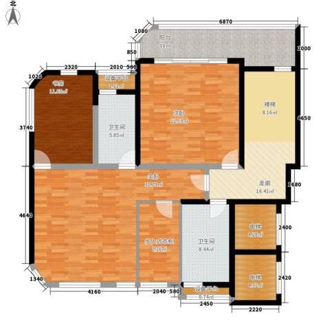 岳麓1号3室0厅2卫0厨306.00㎡户型图