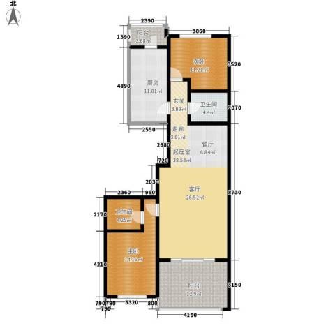 大唐天下江山2室0厅2卫1厨139.00㎡户型图