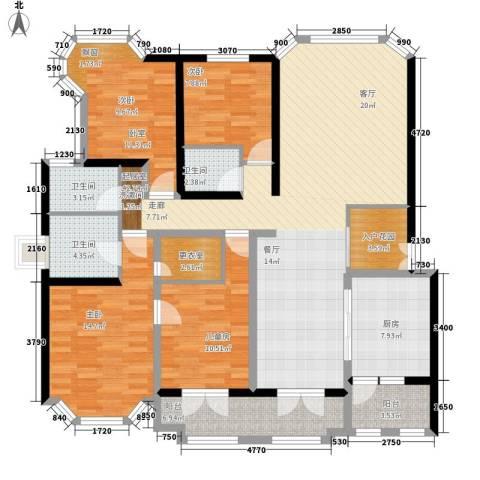 南方城3室0厅3卫1厨141.00㎡户型图