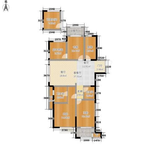 紫金城3室1厅2卫1厨140.00㎡户型图