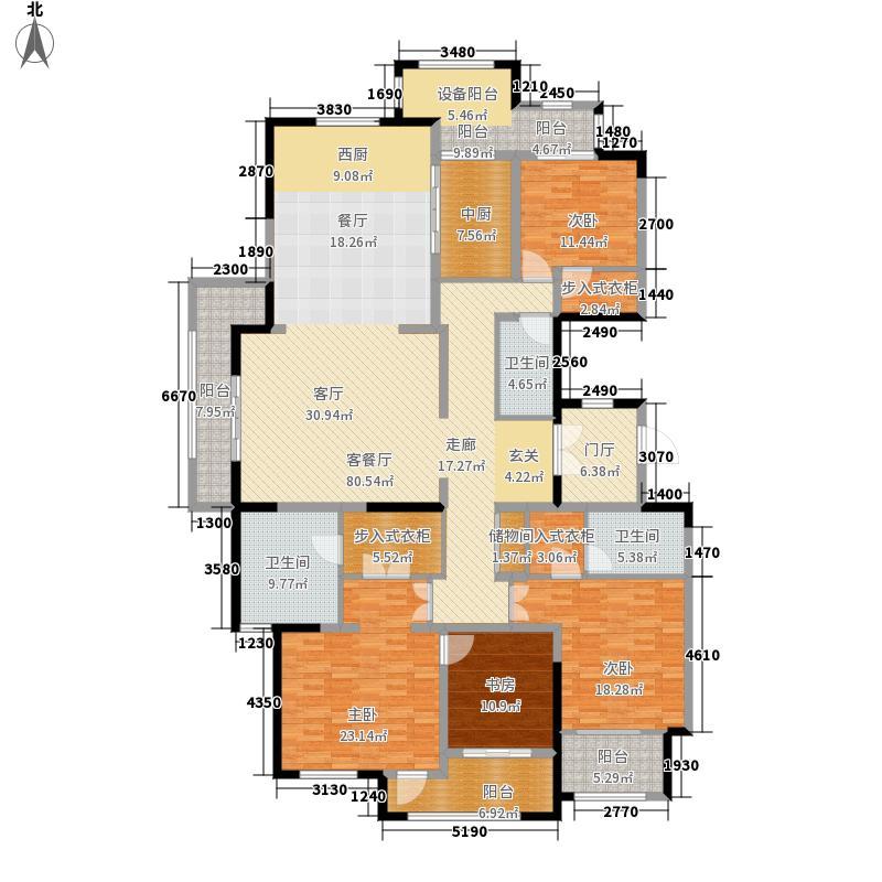 紫金城250.00㎡天玺B户型4室2厅