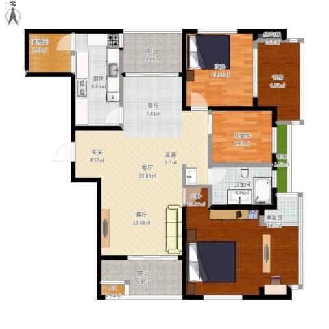 虹锦湾4室1厅1卫1厨159.00㎡户型图