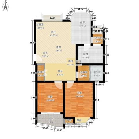 上大聚丰园二期2室0厅1卫1厨132.00㎡户型图