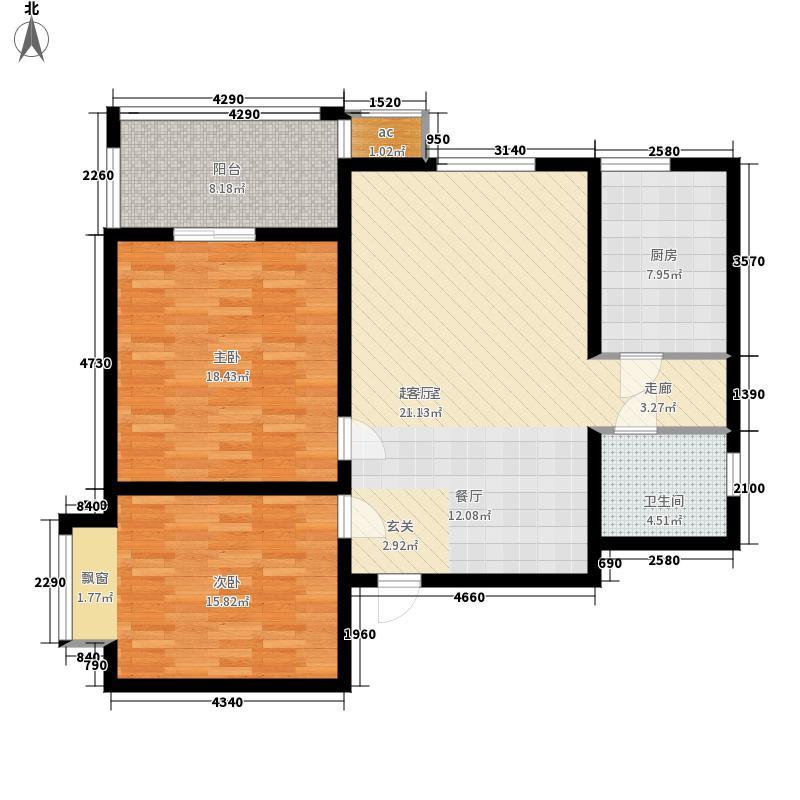 锦辉公寓104.00㎡面积10400m户型