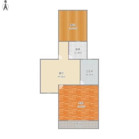宝林九村1室1厅1卫1厨218.00㎡户型图