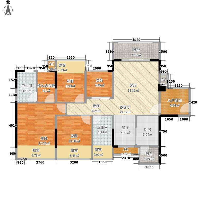云星钱隆江南120.00㎡6#2单元06装修后户型3室2厅