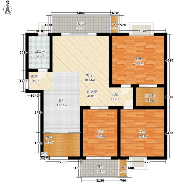 七星区秀峰房产新建房产126.73㎡4#B户型