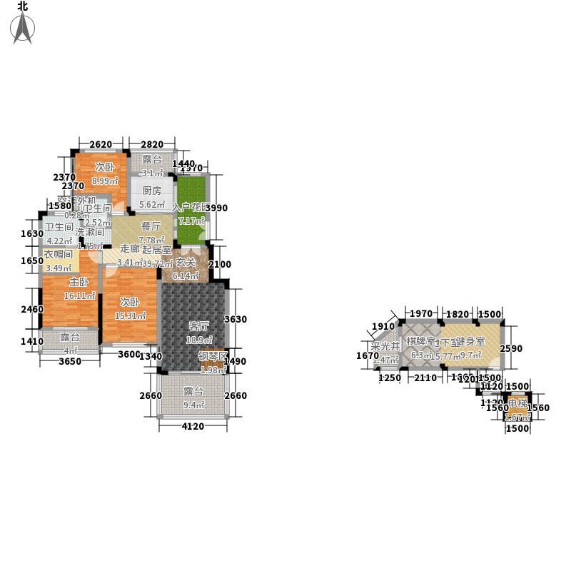 天麓146.68㎡B户型3室2厅