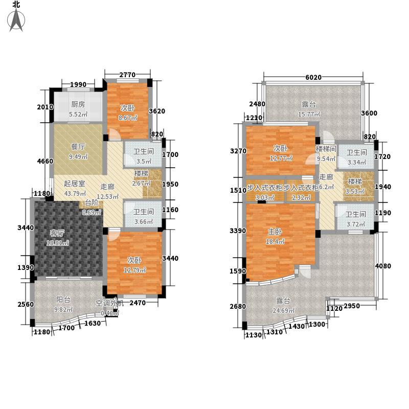 永隆城市广场198.00㎡一期瑞景苑叠加1F+2FA2户型
