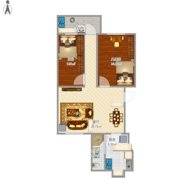 60两室一厅