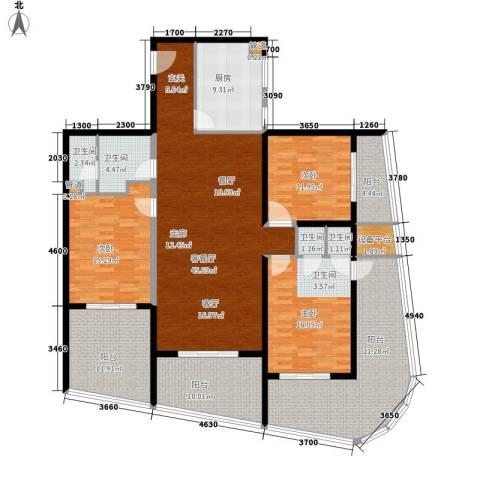 海韵・半岭温泉3室1厅4卫1厨193.00㎡户型图