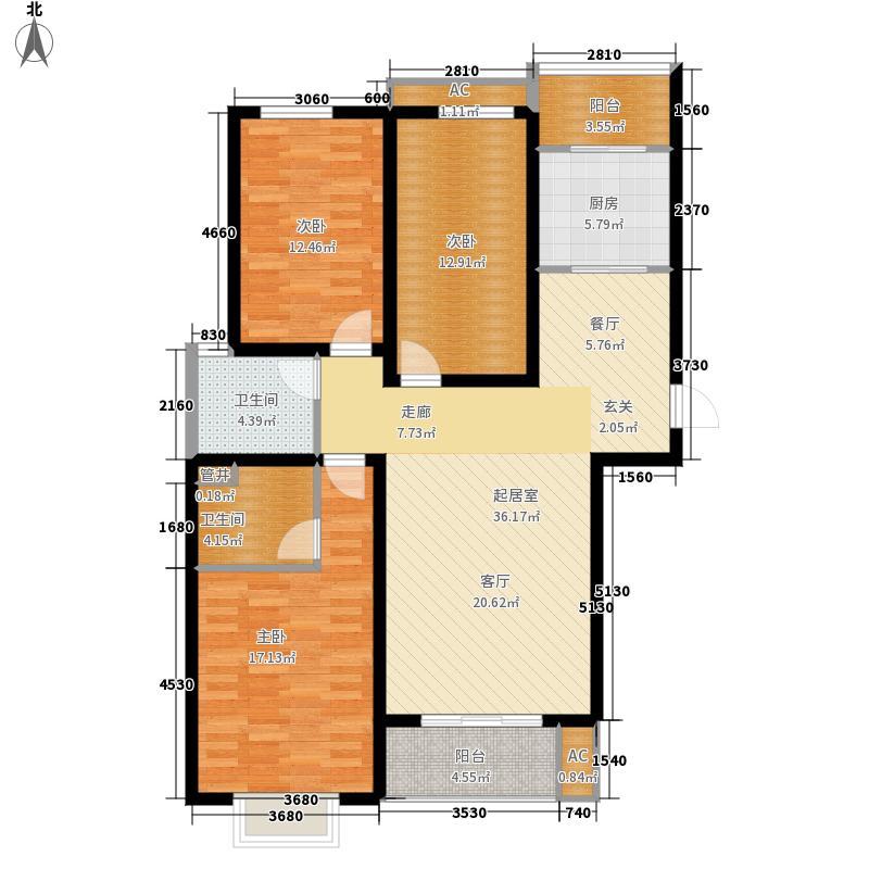 中央时区125.36㎡7号楼0面积12536m户型