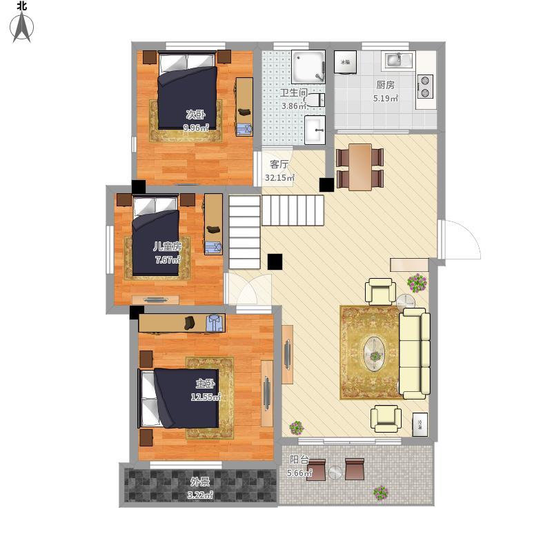 93AF2三室两厅一卫