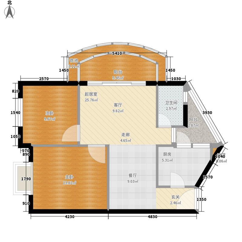 湄公河畔78.63㎡D2户型2室2厅