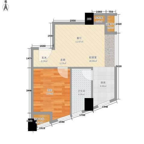 印象天心1室0厅1卫0厨42.00㎡户型图