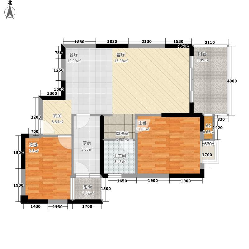凯旋名邸95.63㎡C面积9563m户型