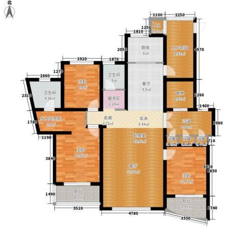 鸿城・铂兰湾3室0厅2卫1厨152.00㎡户型图