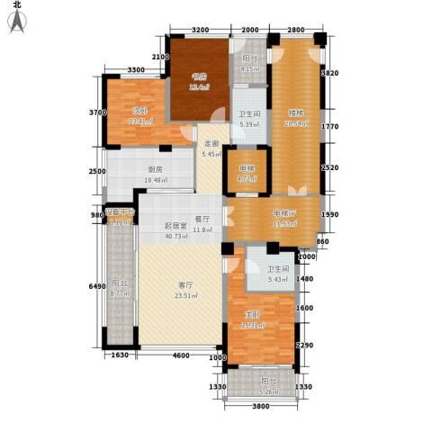 绿城翡翠湖玫瑰园3室0厅2卫1厨159.62㎡户型图