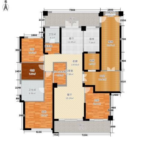 绿城翡翠湖玫瑰园4室0厅2卫1厨187.29㎡户型图