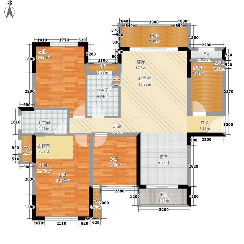 绿茵温莎堡香堤121.00㎡109-110幢01户型3室2厅