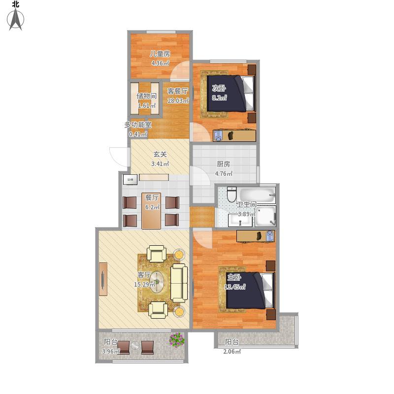 93平3室2厅
