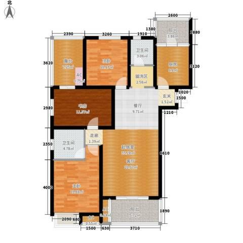 鸿城・铂兰湾3室0厅2卫1厨127.00㎡户型图