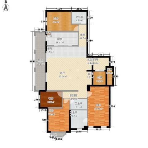 万科紫台4室0厅3卫1厨190.00㎡户型图