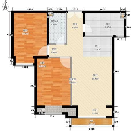丽都壹号2室0厅1卫1厨85.00㎡户型图