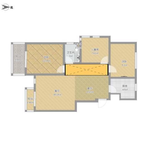 世纪名城3室1厅1卫1厨103.00㎡户型图
