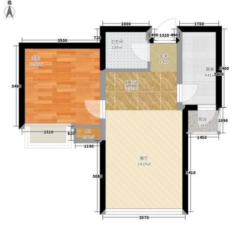 弘泽印象1室0厅1卫1厨59.00㎡户型图