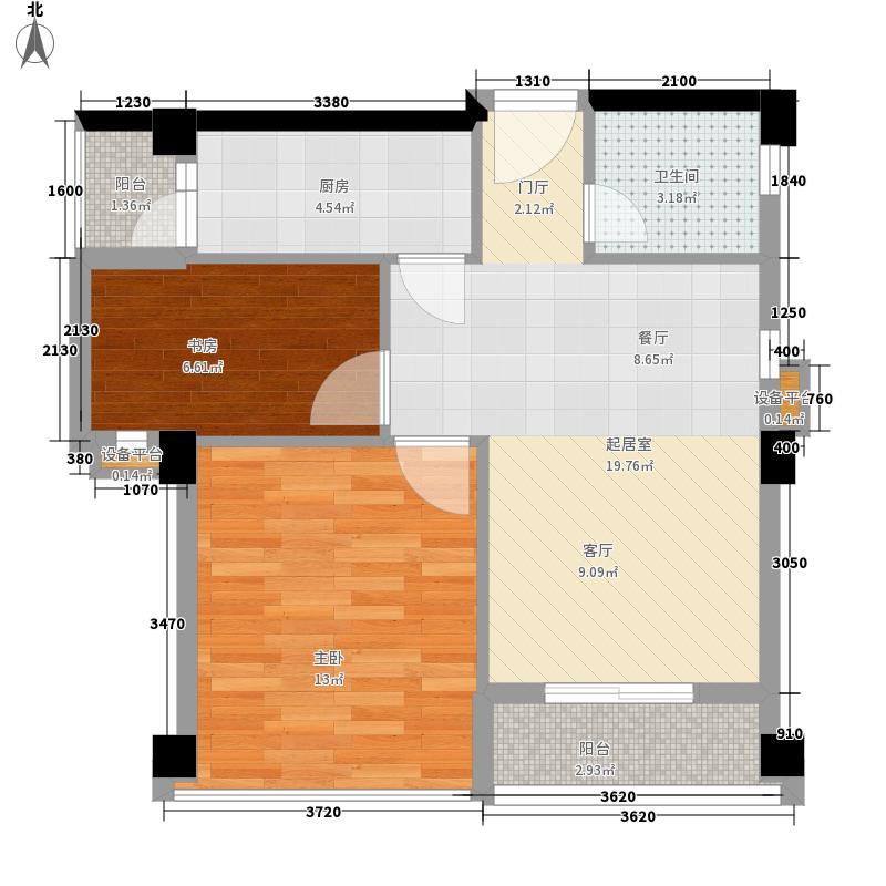 凯莱国际寓所72.15㎡A2'型面积7215m户型
