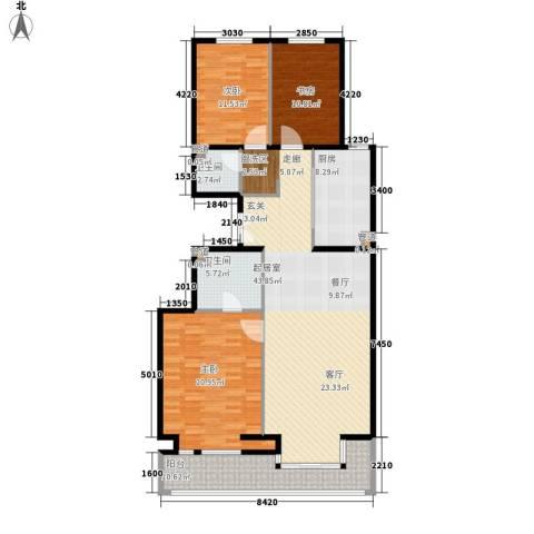 丽都壹号3室0厅2卫1厨129.00㎡户型图