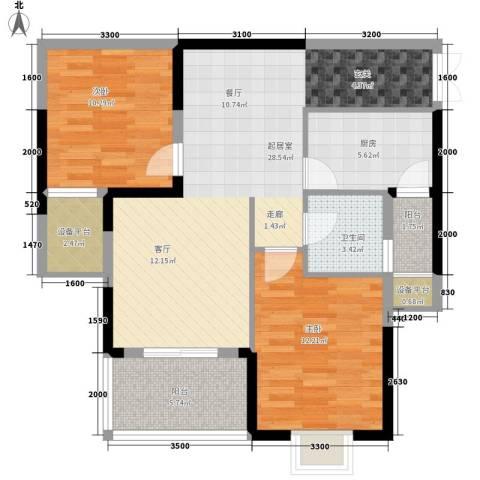 水仙里2室0厅1卫1厨102.00㎡户型图