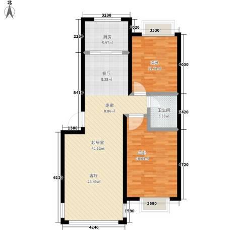 张杨南苑2室0厅1卫1厨112.00㎡户型图