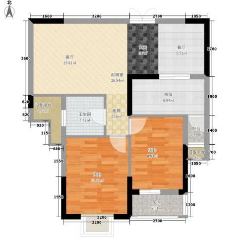 水仙里2室0厅1卫1厨90.00㎡户型图