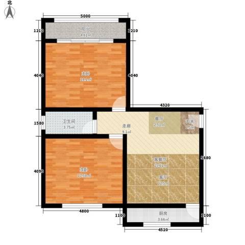八中宿舍2室1厅1卫1厨84.00㎡户型图