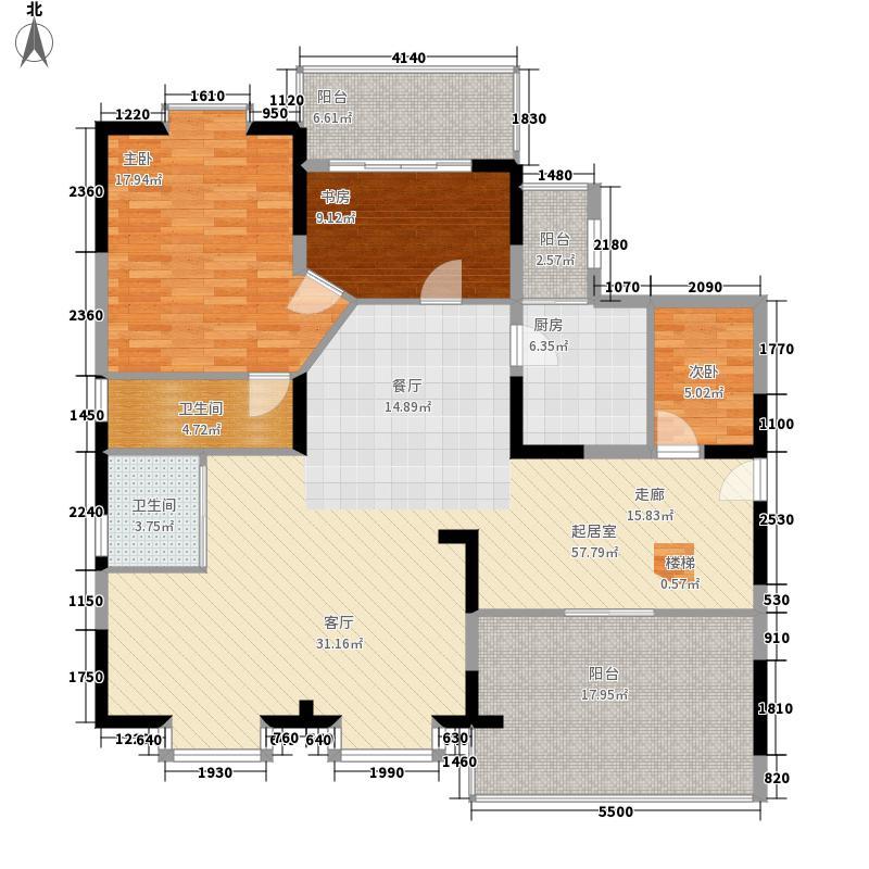 闽东国际城146.00㎡4#楼5-18层G2面积14600m户型