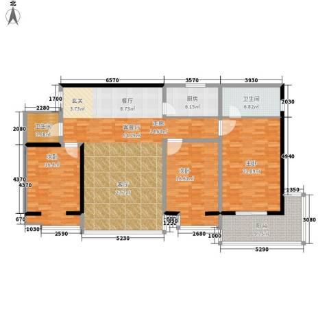 龙洲新城3室1厅2卫1厨191.00㎡户型图