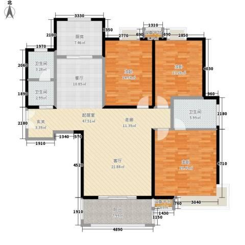 浅水湾3室0厅3卫1厨138.00㎡户型图