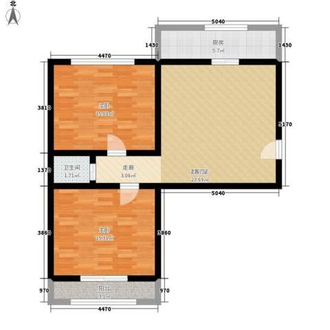 交通局宿舍2室0厅1卫1厨78.00㎡户型图