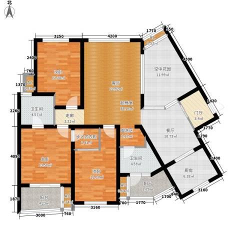 鸿城・铂兰湾3室0厅2卫1厨141.00㎡户型图