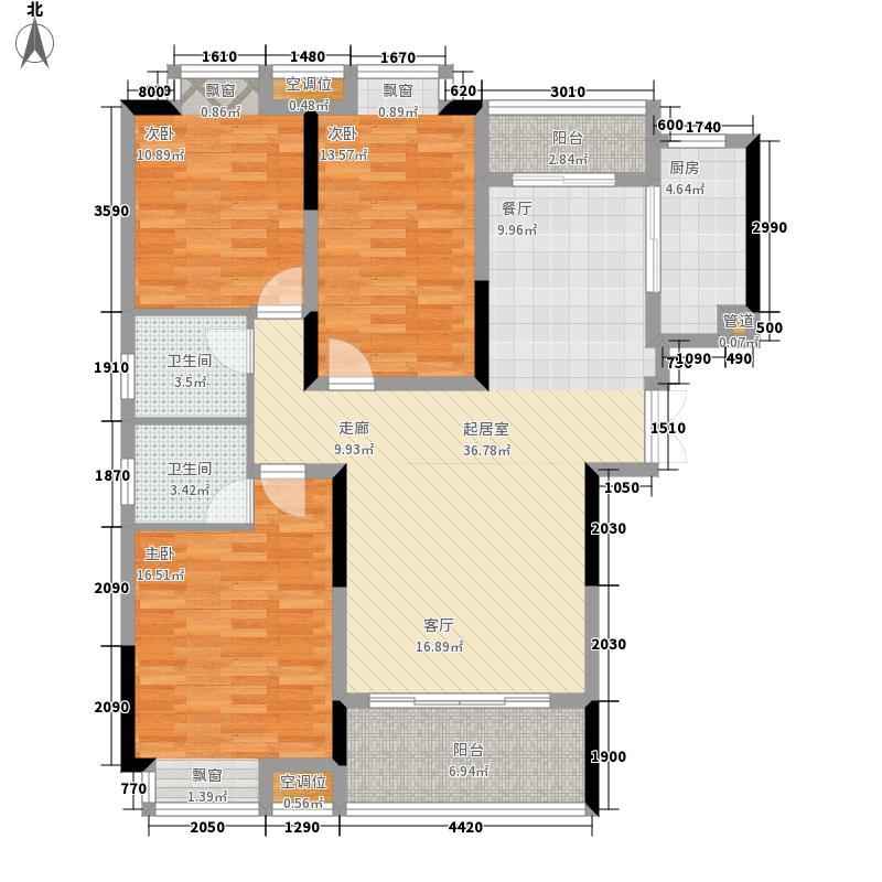 香缇溪岸115.68㎡10号楼高层D3户型