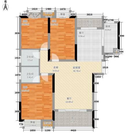 香缇溪岸3室0厅2卫1厨116.00㎡户型图