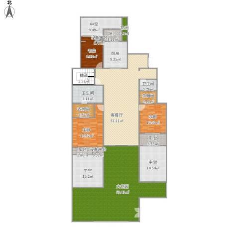金科廊桥水岸3室1厅2卫1厨317.00㎡户型图