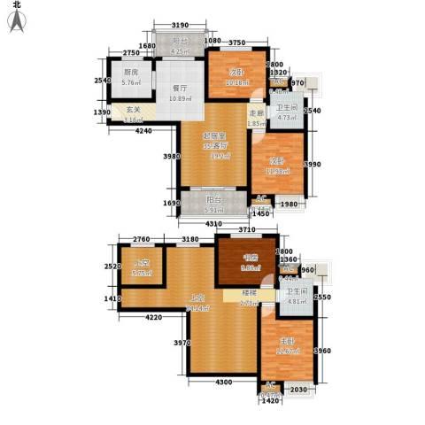 鸿城・铂兰湾4室0厅2卫1厨170.90㎡户型图