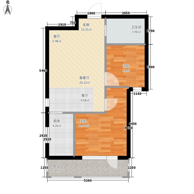 香水湾海客76.00㎡户型2室2厅