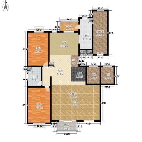 东方文苑2室1厅1卫1厨241.00㎡户型图